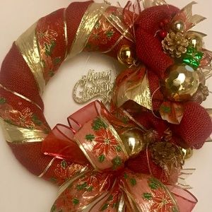 Other - SOLD (cross posted) Christmas burlap wreath